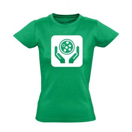 Ikonkológia onkológiai női póló (zöld)