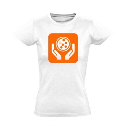 Ikonkológia onkológiai női póló (fehér)