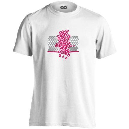 Sejtfelesleg onkológiai férfi póló (fehér)