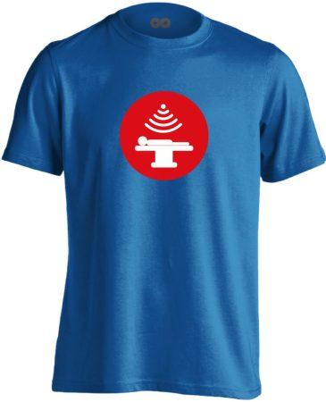 Sugár onkológiai férfi póló (kék)