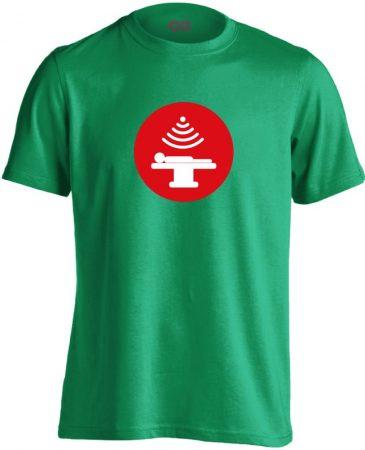 Sugár onkológiai férfi póló (zöld)