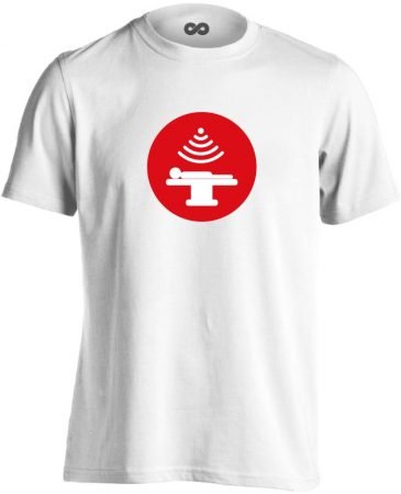 Sugár onkológiai férfi póló (fehér)
