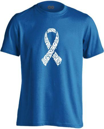 A remény szalagja onkológiai férfi póló (kék)