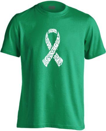 A remény szalagja onkológiai férfi póló (zöld)