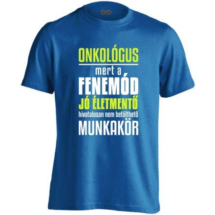 Életmentő onkológiai férfi póló (kék)