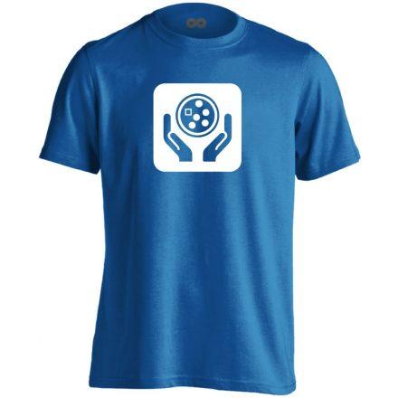 Ikonkológia onkológiai férfi póló (kék)