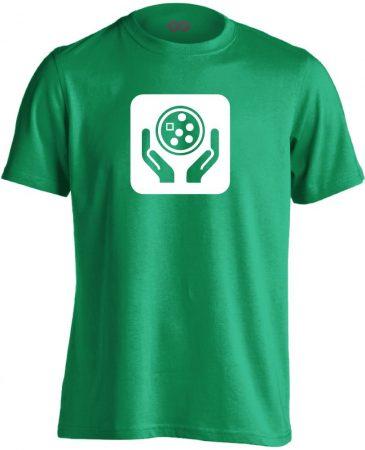 Ikonkológia onkológiai férfi póló (zöld)