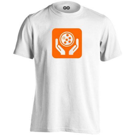 Ikonkológia onkológiai férfi póló (fehér)