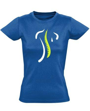 S-Modell ortopédiai női póló (kék)