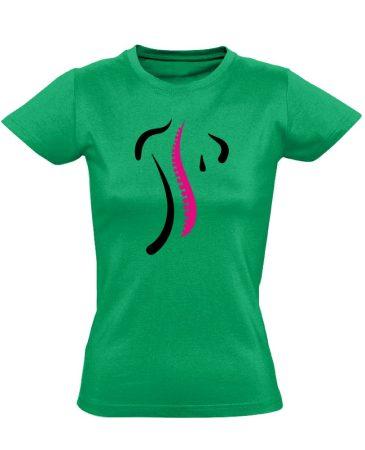 S-Modell ortopédiai női póló (zöld)