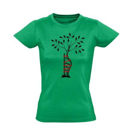 Egyenesbe Jössz ortopédiai női póló (zöld)