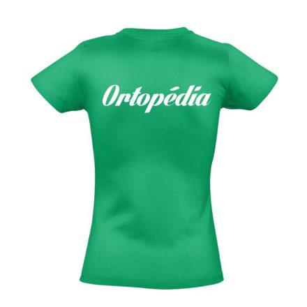 Ortopédia női póló (zöld)