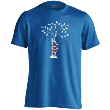 Egyenesbe Jössz ortopédiai férfi póló (kék)