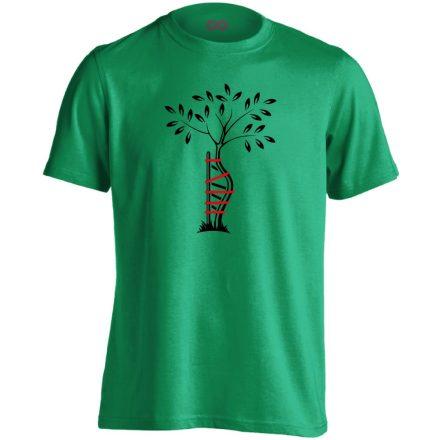 Egyenesbe Jössz ortopédiai férfi póló (zöld)