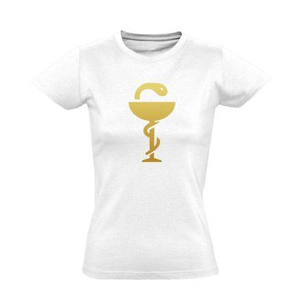 Anguis gyógyszerész/patikus női póló (fehér)