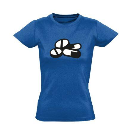 Pirula és Bogyó gyógyszerész/patikus női póló (kék)