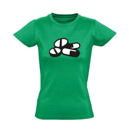 Pirula és Bogyó gyógyszerész/patikus női póló (zöld)