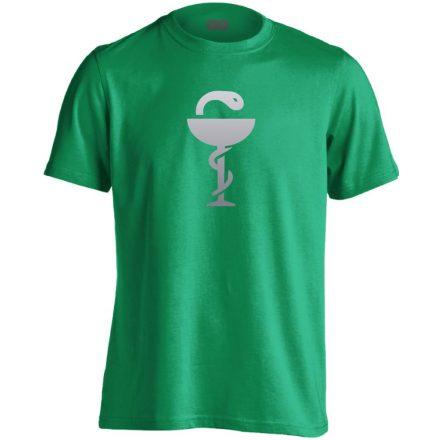 Anguis gyógyszerész/patikus férfi póló (zöld)