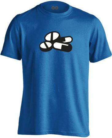 Pirula és Bogyó gyógyszerész/patikus férfi póló (kék)