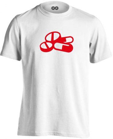 Pirula és Bogyó gyógyszerész/patikus férfi póló (fehér)