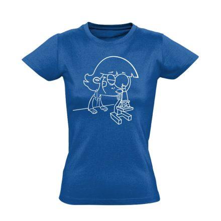 Sejtvadász patológiai női póló (kék)