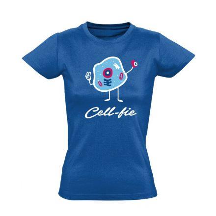 Cell-fie patológiai női póló (kék)