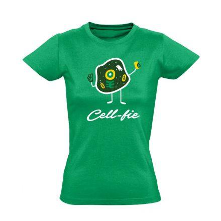 Cell-fie patológiai női póló (zöld)