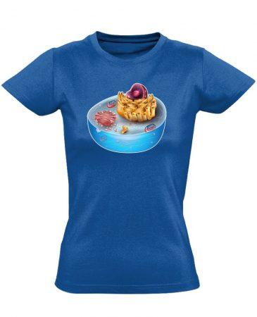 SEJTettem patológiai női póló (kék)