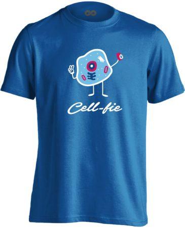 Cell-fie patológiai férfi póló (kék)