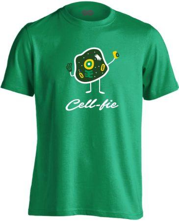 Cell-fie patológiai férfi póló (zöld)
