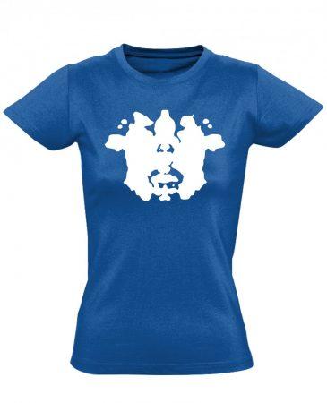 Rorschach pszichiátriai női póló (kék)