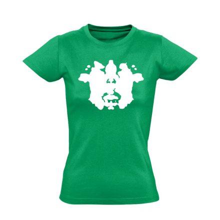 Rorschach pszichiátriai női póló (zöld)