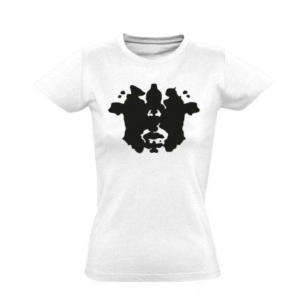 Rorschach pszichiátriai női póló (fehér)