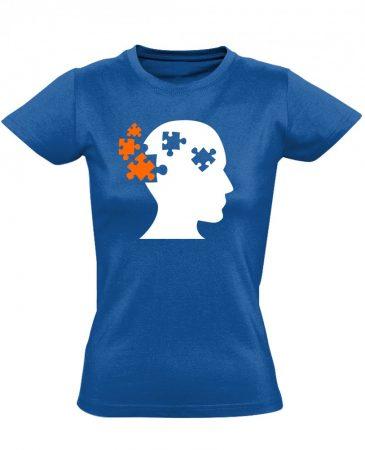 ElmePuzzle pszichiátriai női póló (kék)