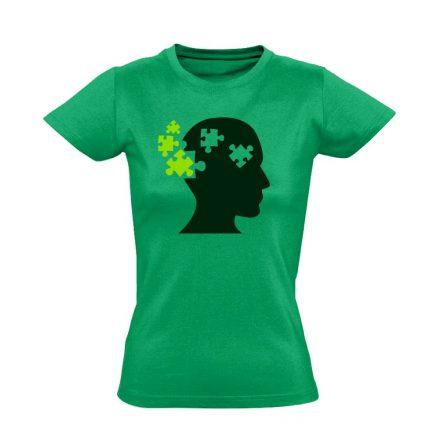ElmePuzzle pszichiátriai női póló (zöld)