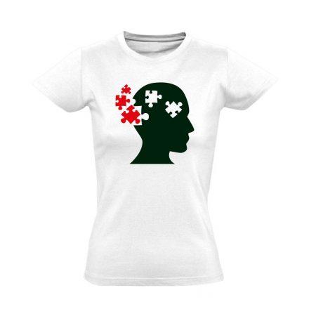 ElmePuzzle pszichiátriai női póló (fehér)