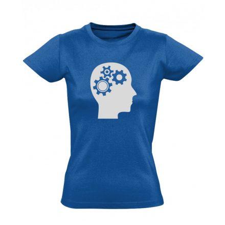 AgyVáltó pszichiátriai női póló (kék)