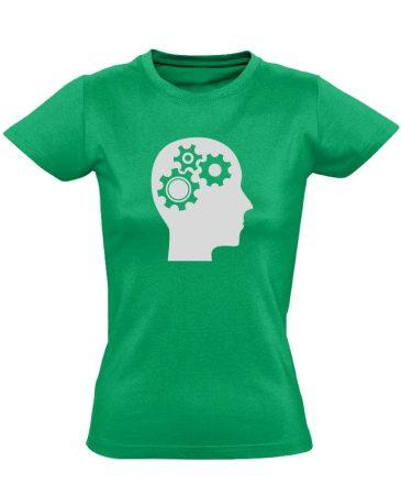 AgyVáltó pszichiátriai női póló (zöld)