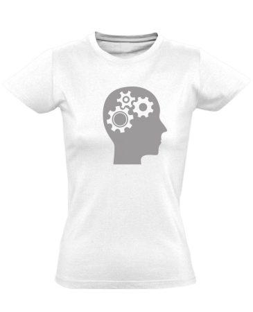 AgyVáltó pszichiátriai női póló (fehér)