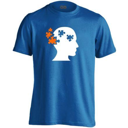 ElmePuzzle pszichiátriai férfi póló (kék)