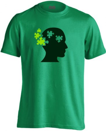 ElmePuzzle pszichiátriai férfi póló (zöld)