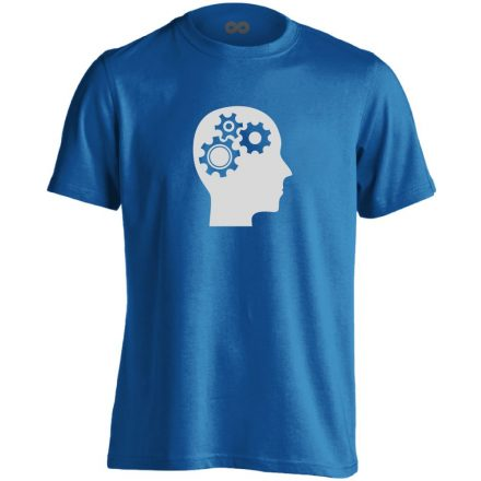 AgyVáltó pszichiátriai férfi póló (kék)