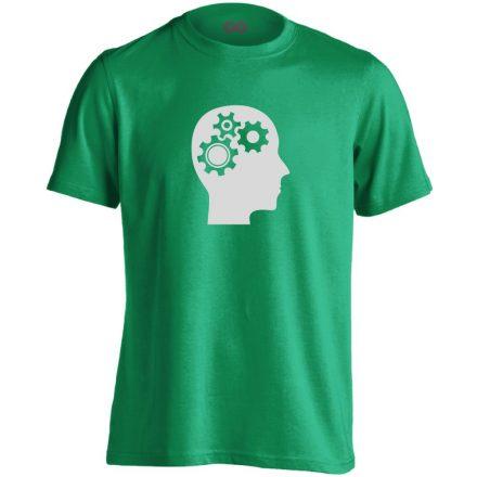 AgyVáltó pszichiátriai férfi póló (zöld)