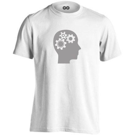 AgyVáltó pszichiátriai férfi póló (fehér)