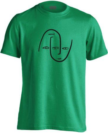 Én és Én pszichiátriai férfi póló (zöld)