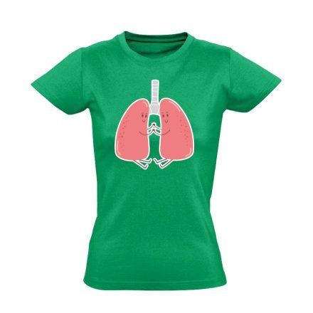 LebenyBarátok pulmonológiai női póló (zöld)