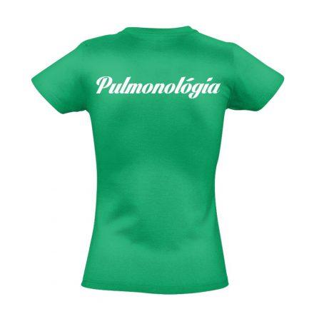 Pulmonológia női póló (zöld)