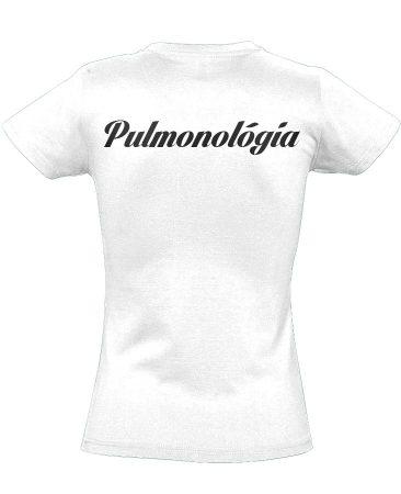 Pulmonológia női póló (fehér)