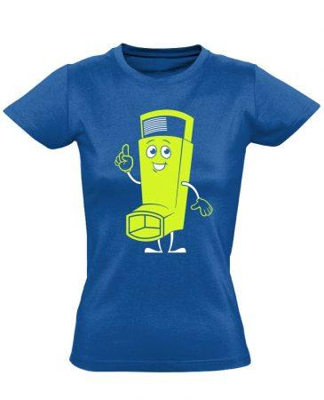 Vidor Inhalátor pulmonológiai női póló (kék)