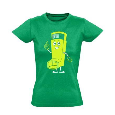 Vidor Inhalátor pulmonológiai női póló (zöld)